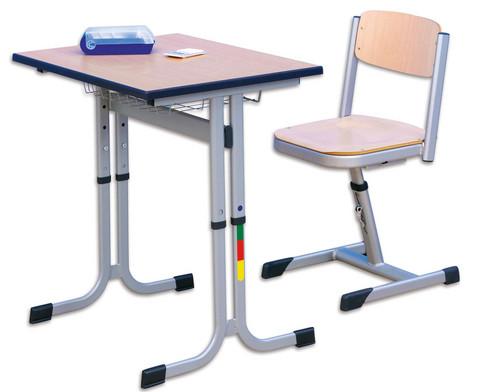 Einer-Schuelertisch mit C-Fuss hoehenverstellbar 70 x 55 cm