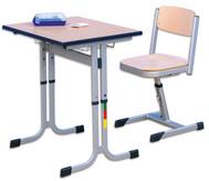 Einer-Schülertisch mit C-Fuß, höhenverstellbar, 70 x 55 cm