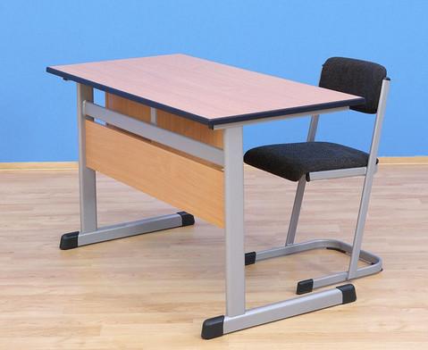 Lehrertisch L-Fuss mit abschliessbarem Fach und 1 Schublade