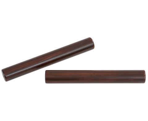 Claves aus dunkel lackiertem Kokosnussholz-2