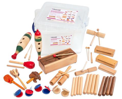 Betzold Musik Holzklang-Gruppenset mit 25 Instrumenten