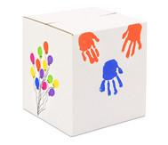 Trommelkiste aus Karton, weiß 30x30x33 cm