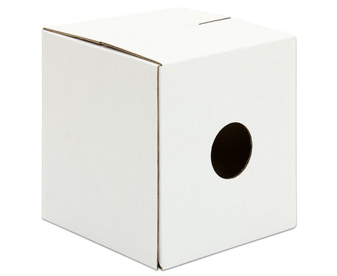 Trommelkiste aus Karton weiss 30x30x33 cm-2