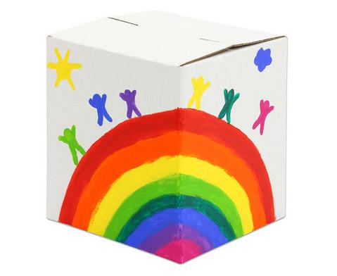 Trommelkiste aus Karton weiss 30x30x33 cm-5
