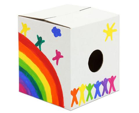 Trommelkiste aus Karton weiss 30x30x33 cm-6