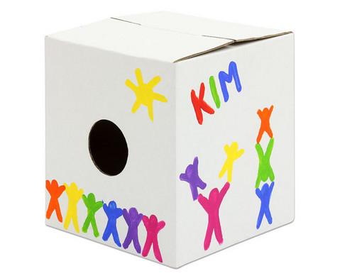 Trommelkiste aus Karton weiss 30x30x33 cm-7