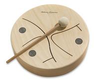 Holz-Tamburin 3-tönig