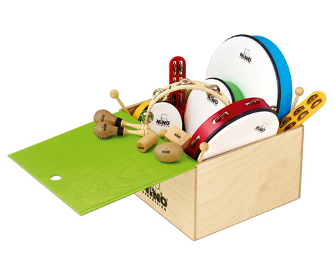 Percussion-Set mit Holzbox 12-teilig-1