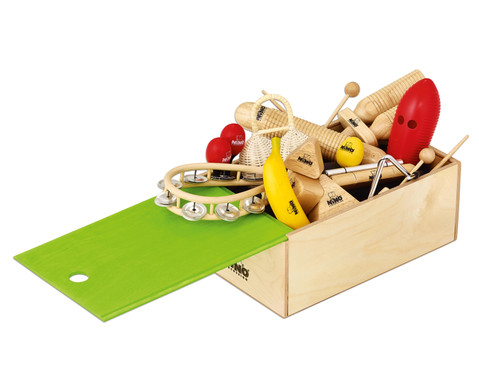 Nino 15-teiliges Percussion-Set mit Holzbox
