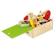 15-teiliges Percussion-Set mit Holzbox