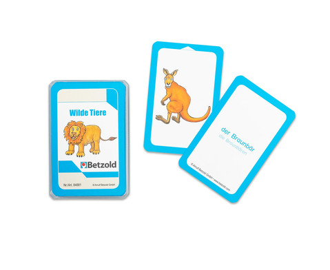 Wilde Tiere - Kartensatz fuer den Magischen Zylinder