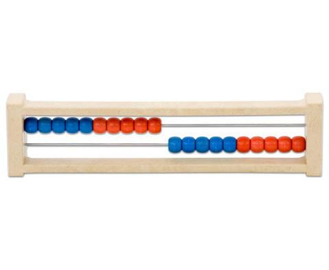 Rechenrahmen ZR 20 aus RE-WOOD rot-blau