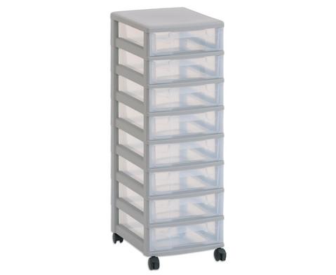 Flexeo Rollcontainer mit 8 kleinen Boxen