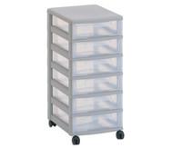 Flexeo Rollcontainer mit 6 kleinen Boxen HxBxT: 66x30x38 cm