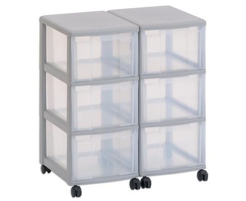 Flexeo Container-System 2 Reihen 6 grosse Boxen
