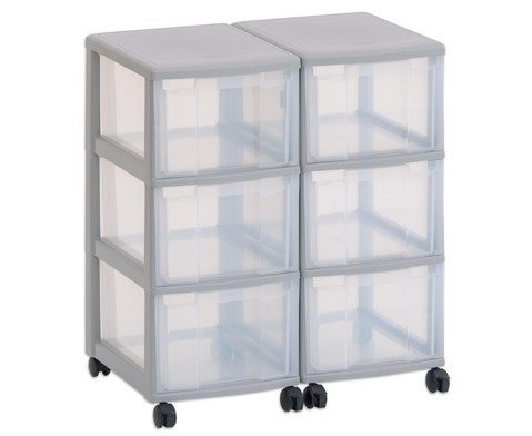 Flexeo Container-System 2 Reihen 6 grosse Boxen HxBxT 66x60x38 cm