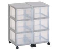 Flexeo Container-System 2 Reihen, 6 große Boxen HxBxT: 66x60x38 cm