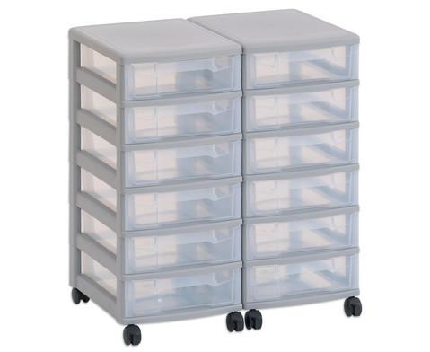 Flexeo Container-System 2 Reihen 12 kleine Boxen