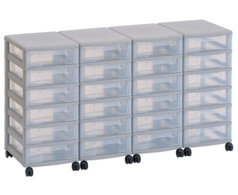 Flexeo Container-System 4 Reihen 24 kleine Boxen