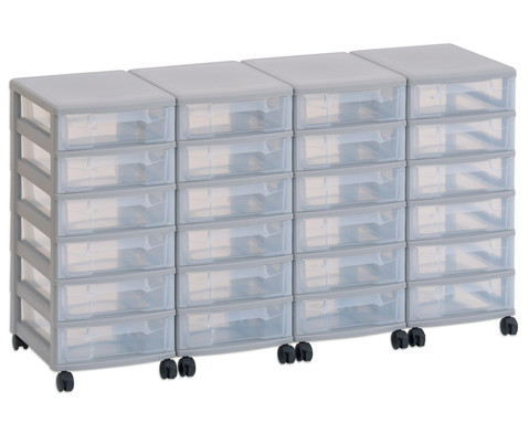 Flexeo Container-System 4 Reihen 24 kleine Boxen HxBxT 66x120x38 cm