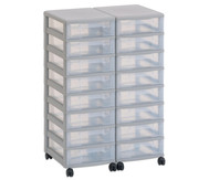Flexeo Container-System 2 Reihen, 16 kleine Boxen HxBxT: 66x60x38 cm