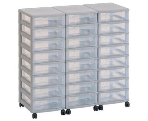 Flexeo Container-System 3 Reihen 24 kleine Boxen HxBxT 66x90x38 cm