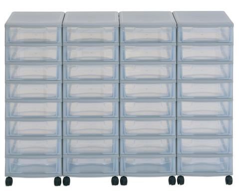 Flexeo Container-System 4 Reihen 32 kleine Boxen HxBxT 66x120x38 cm