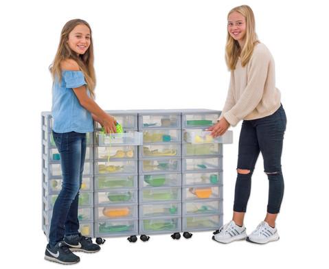 Flexeo Container-System 4 Reihen 32 kleine Boxen HxBxT 66x120x38 cm-2