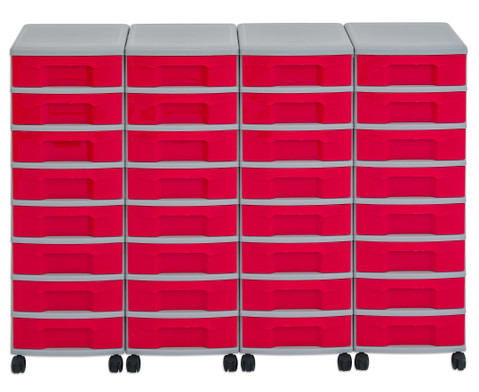 Flexeo Container-System 4 Reihen 32 kleine Boxen HxBxT 66x120x38 cm-3