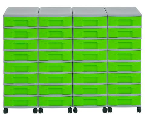 Flexeo Container-System 4 Reihen 32 kleine Boxen HxBxT 66x120x38 cm-5
