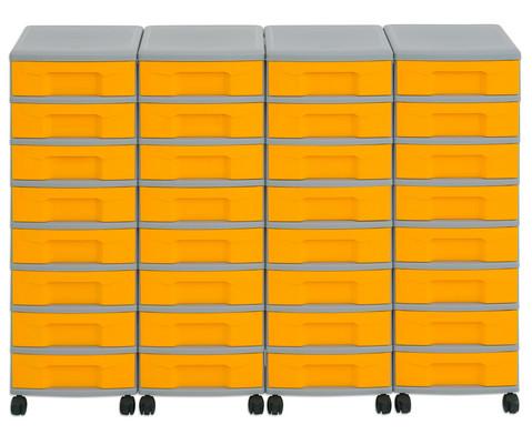 Flexeo Container-System 4 Reihen 32 kleine Boxen HxBxT 66x120x38 cm-6