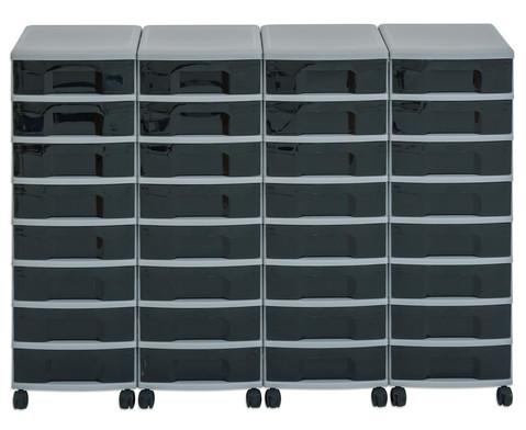 Flexeo Container-System 4 Reihen 32 kleine Boxen HxBxT 66x120x38 cm-8