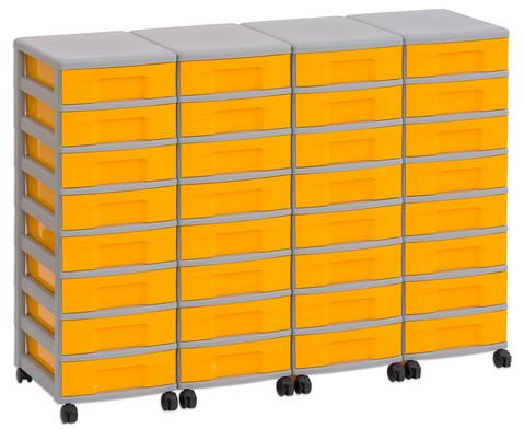 Flexeo Container-System 4 Reihen 32 kleine Boxen HxBxT 66x120x38 cm-21