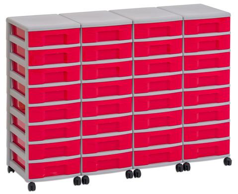 Flexeo Container-System 4 Reihen 32 kleine Boxen HxBxT 66x120x38 cm-25
