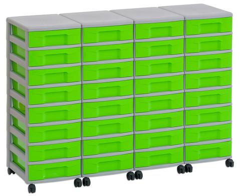 Flexeo Container-System 4 Reihen 32 kleine Boxen HxBxT 66x120x38 cm-19