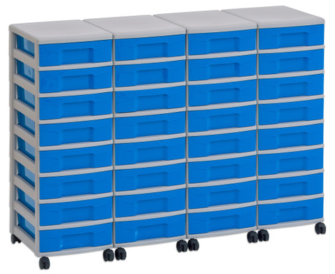 Flexeo Container-System 4 Reihen 32 kleine Boxen HxBxT 66x120x38 cm-10
