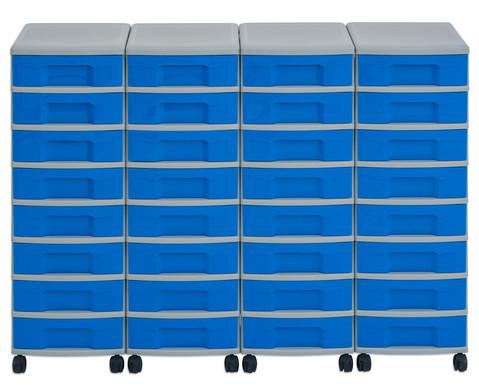 Flexeo Container-System 4 Reihen 32 kleine Boxen HxBxT 66x120x38 cm-11