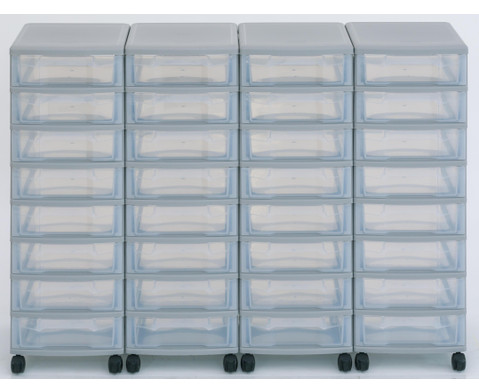 Flexeo Container-System 4 Reihen 32 kleine Boxen HxBxT 66x120x38 cm-15