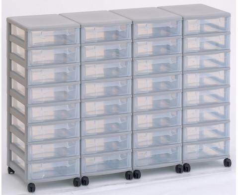 Flexeo Container-System 4 Reihen 32 kleine Boxen HxBxT 66x120x38 cm-16