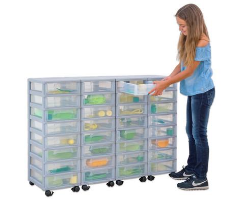 Flexeo Container-System 4 Reihen 32 kleine Boxen HxBxT 66x120x38 cm-17