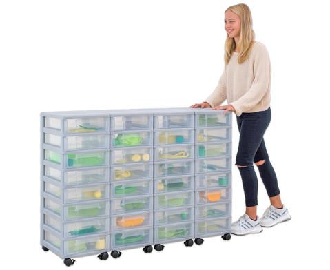 Flexeo Container-System 4 Reihen 32 kleine Boxen HxBxT 66x120x38 cm-18