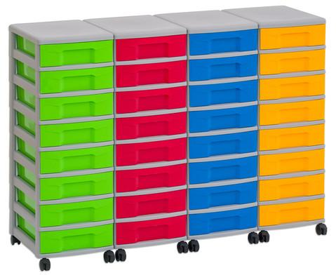 Flexeo Container-System 4 Reihen 32 kleine Boxen HxBxT 66x120x38 cm-12