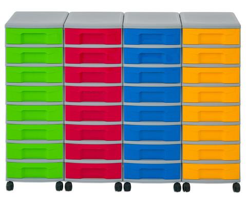 Flexeo Container-System 4 Reihen 32 kleine Boxen HxBxT 66x120x38 cm-13
