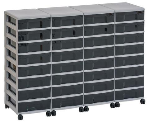 Flexeo Container-System 4 Reihen 32 kleine Boxen HxBxT 66x120x38 cm-23