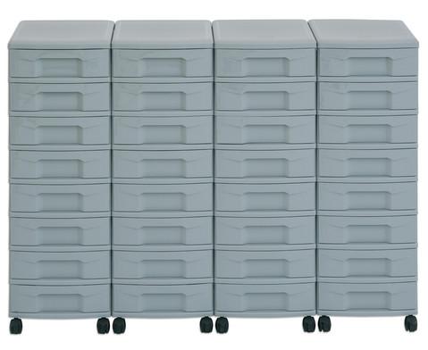 Flexeo Container-System 4 Reihen 32 kleine Boxen HxBxT 66x120x38 cm-14