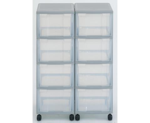 Flexeo Container-System 2 Reihen 8 grosse Boxen HxBxT 66x60x38 cm