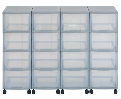 Flexeo Container-System 4 Reihen 16 grosse Boxen HxBxT 66x120x38 cm