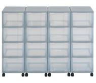Flexeo Container-System 4 Reihen, 16 große Boxen HxBxT: 66x120x38 cm