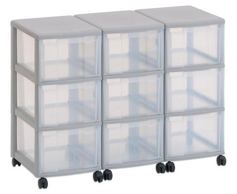 Flexeo Container-System 3 Reihen 9 grosse Boxen