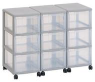 Flexeo Container-System 3 Reihen, 9 große Boxen HxBxT: 66x90x38 cm